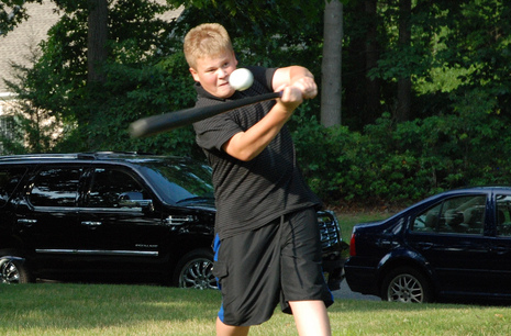 Wiffle Ball Drill - Hitting a Wiffle Ball with PVC increases Hand-Eye Coordination